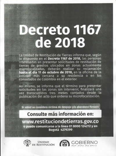 INFORMACION DECRETO 1167 DE 2018